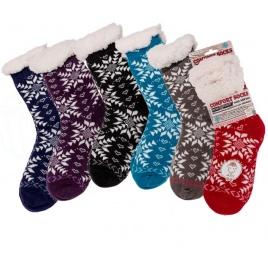 Teplé ponožky - vločka  - extra hrubé
