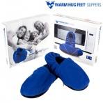 Ohrievateľné papuče do mikrovlnky - modré