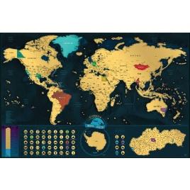 Stieracia mapa sveta - sk verzia Deluxe XXL
