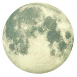 Nálepka na stenu - svietiaci mesiac