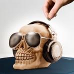 Sporkasa - Lebka s okuliarmi a slúchadlami