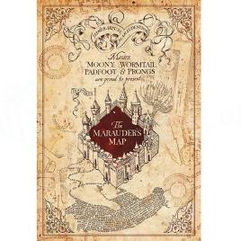 Harry Potter - plagát Záškodnícka mapa