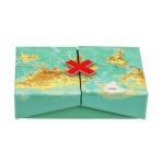Dekoračná krabička - mapa sveta