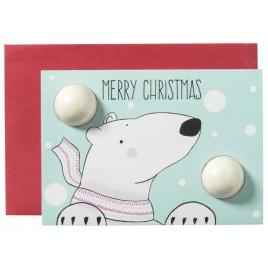 Vianočné želanie s kúpeľovou bombou - medvedík