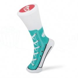 Sneakers ponožky - tyrkysové
