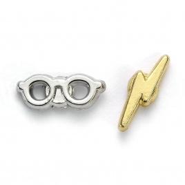 Harry Potter -  náušnice Blesk a okuliare