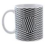 Hrnček - Optická ilúzia - pohybllivé C