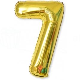 Balón XL čísla - zlatá 7
