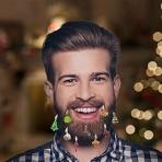 Vianočné ozdoby na bradu