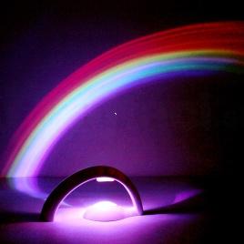 Detská dúhová lampa