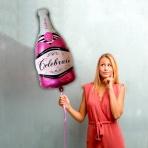 Balón - ružové šampanské XL