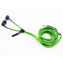 Zipsové slúchadlá - zelené