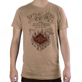 Harry Potter - tričko Záškodnícka mapa - L