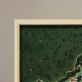 Zarámovaná mapa Slovenska - smotanový rám