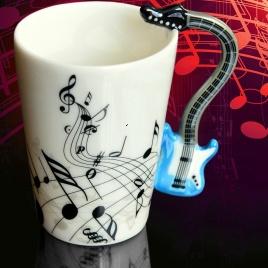Hudobný hrnček - elektrická gitara (modrá)