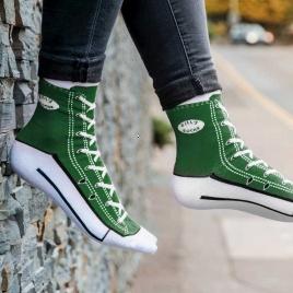 Sneakers ponožky - zelené
