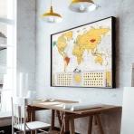 Stieracia mapa sveta - Blanc edícia zlatá XL