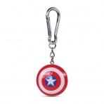 Kapitán Amerika - 3D kľúčenka - štít