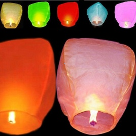 Lampióny šťastia 10ks - multifarebné
