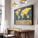 Stieracia mapa sveta - Coffee edícia zlatá XL