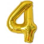 Balón XL čísla - zlatá 4