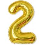 Balón XL čísla - zlatá 2