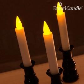 Elektrická sviečka z vosku - svietnik (balenie 3ks)