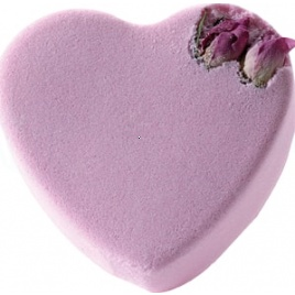 Kúpeľová bomba - srdce s ružou