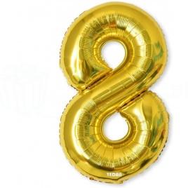 Balón XL čísla - zlatá 8