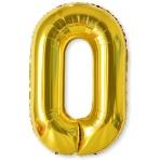 Balón XL čísla - zlatá 0