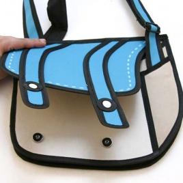 2D taška - modrá